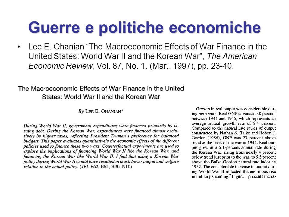 Guerre e politiche economiche