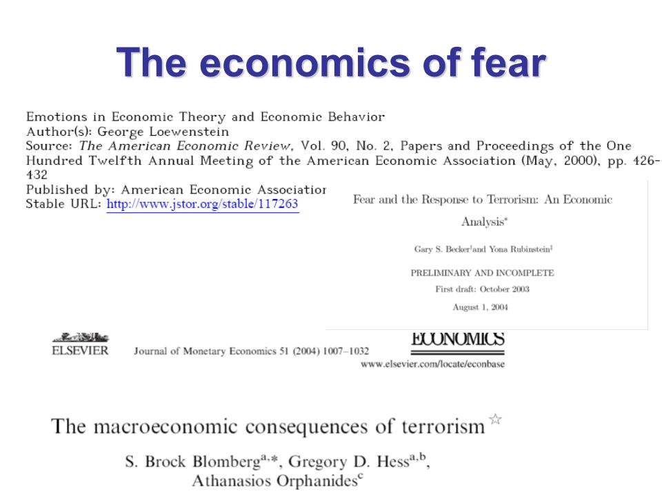 The economics of fear