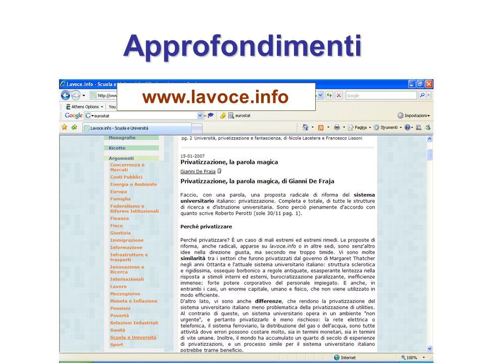 Approfondimenti www.lavoce.info