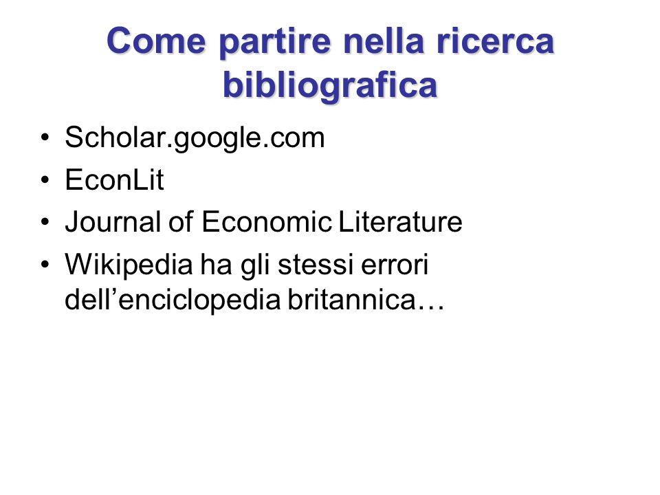 Come partire nella ricerca bibliografica