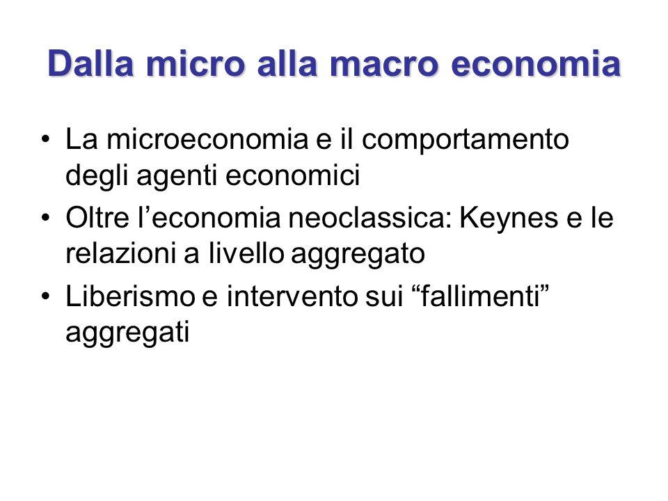 Dalla micro alla macro economia