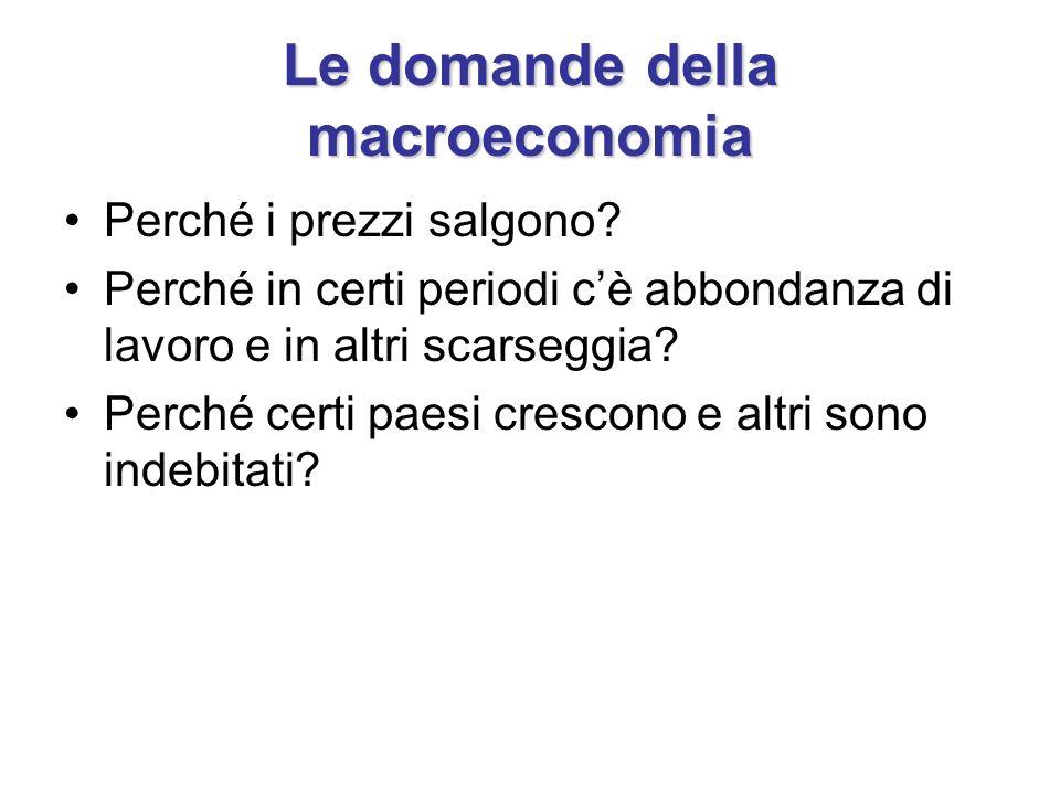 Le domande della macroeconomia