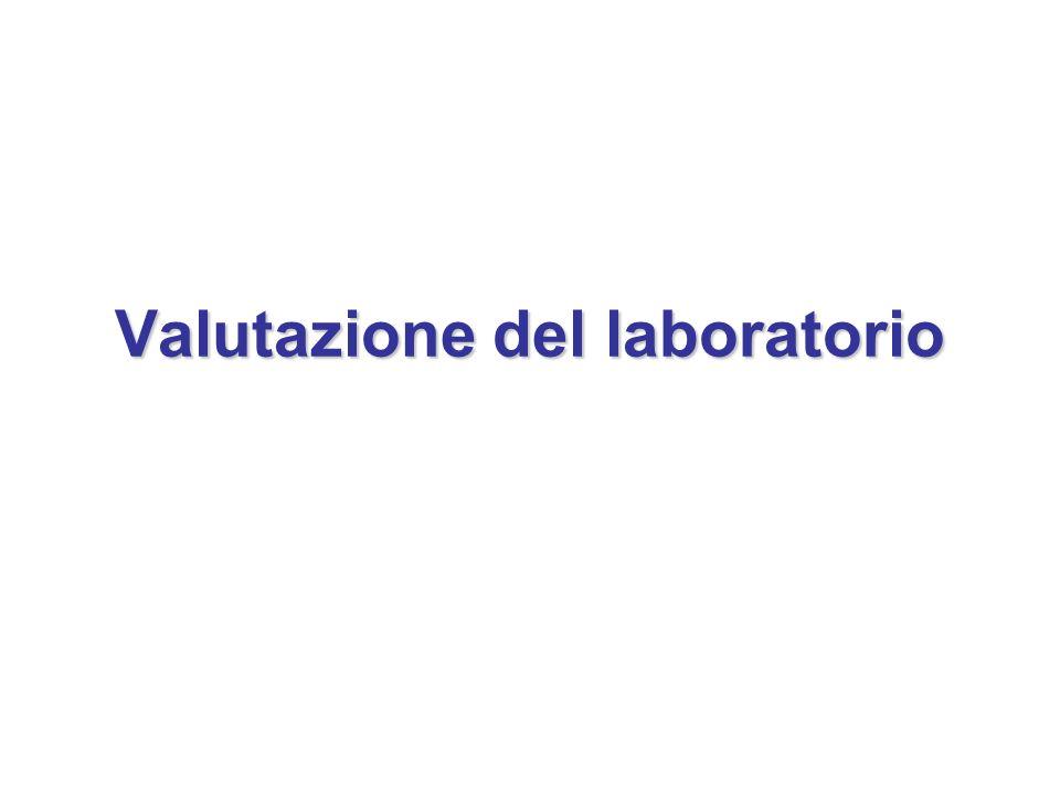 Valutazione del laboratorio