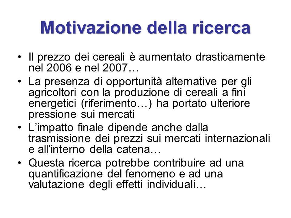 Motivazione della ricerca