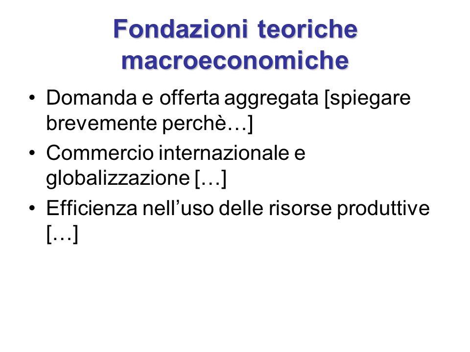 Fondazioni teoriche macroeconomiche