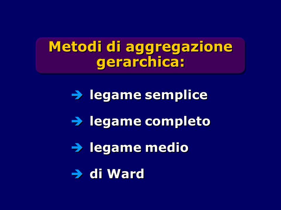 Metodi di aggregazione gerarchica: