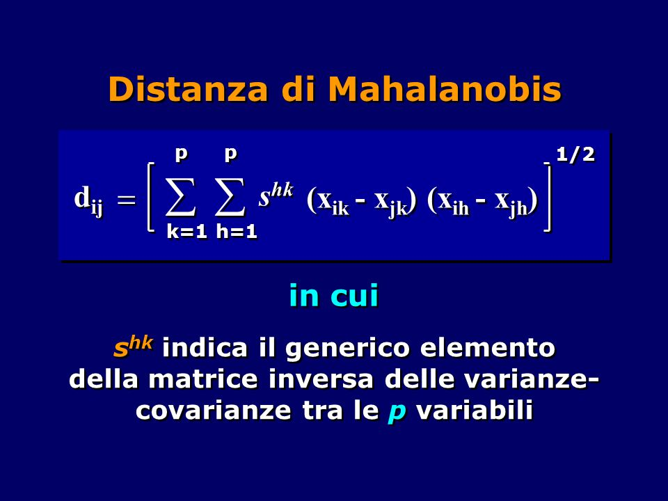 Distanza di Mahalanobis