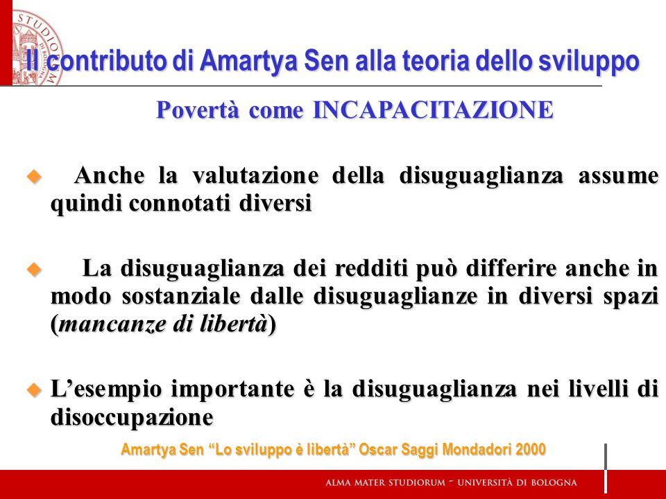 Il contributo di Amartya Sen alla teoria dello sviluppo