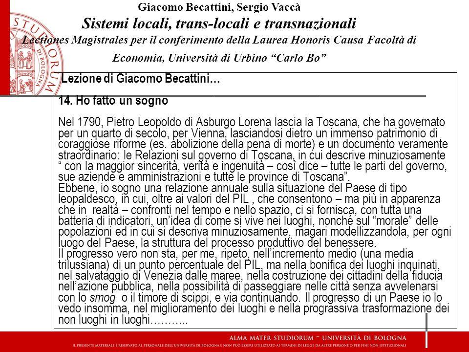 Sistemi locali, trans-locali e transnazionali
