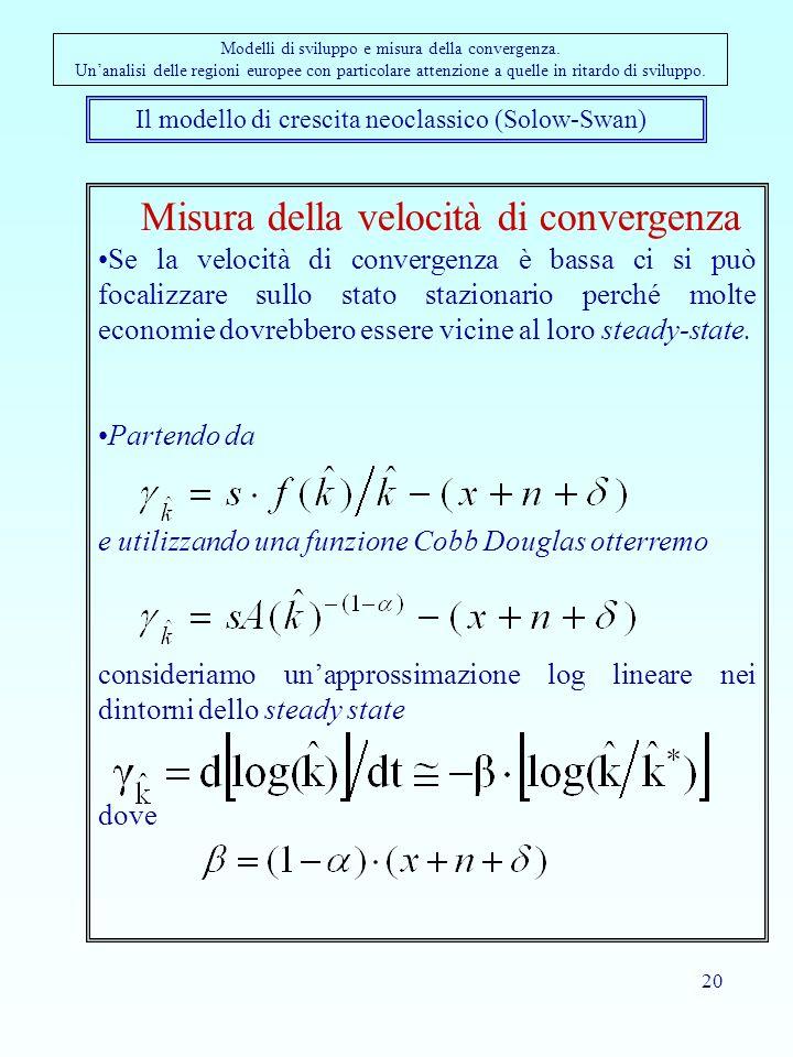 Misura della velocità di convergenza