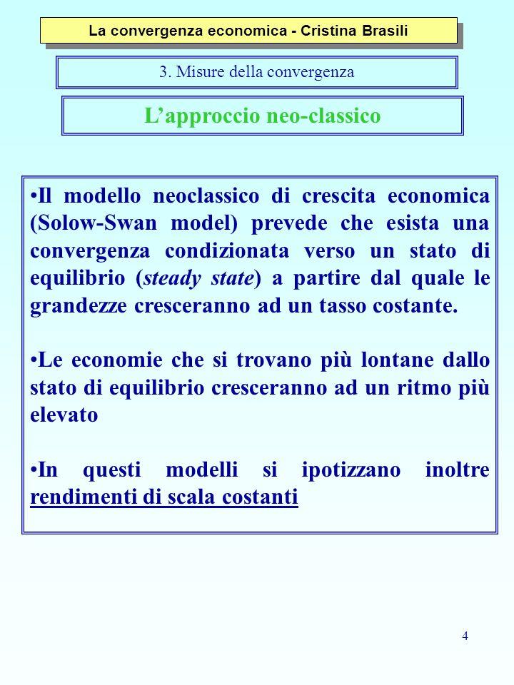 La convergenza economica - Cristina Brasili L'approccio neo-classico