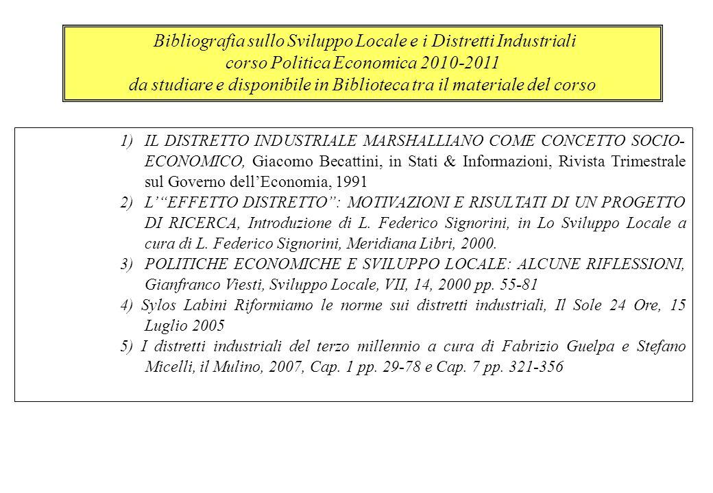 corso Politica Economica 2010-2011