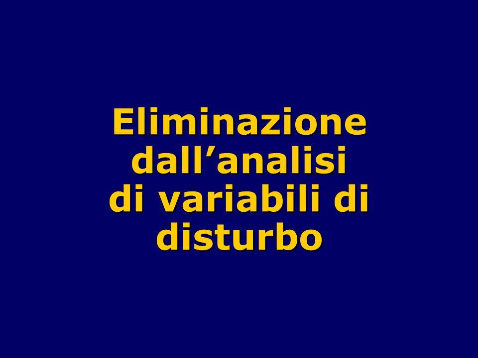 Eliminazione dall'analisi di variabili di disturbo