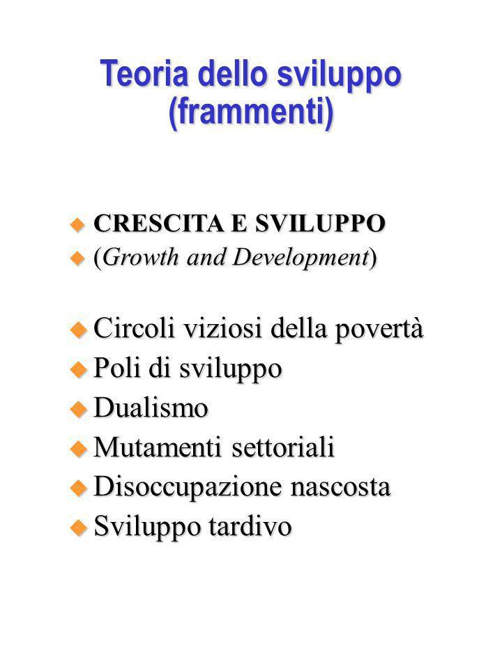 Teoria dello sviluppo (frammenti)