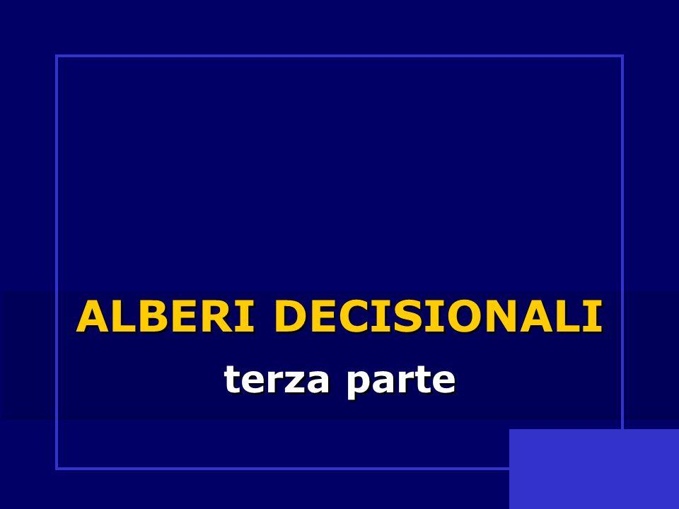 ALBERI DECISIONALI terza parte