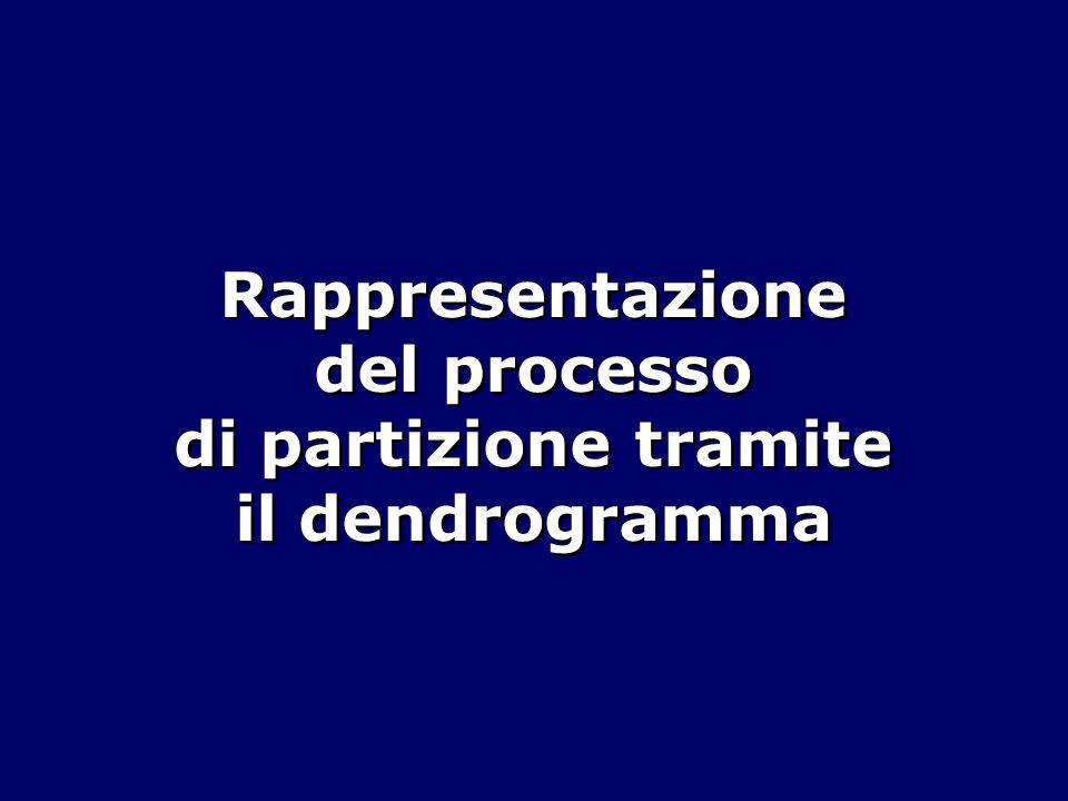 Rappresentazione del processo di partizione tramite il dendrogramma
