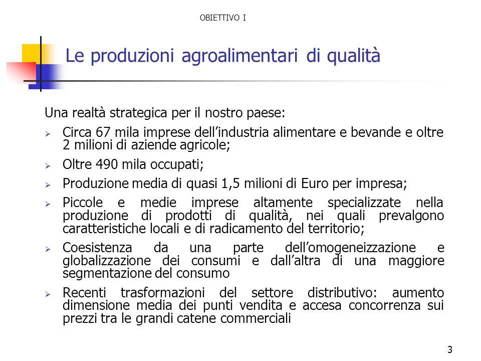 Le produzioni agroalimentari di qualità