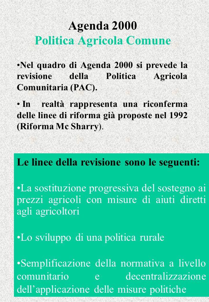 Agenda 2000 Politica Agricola Comune