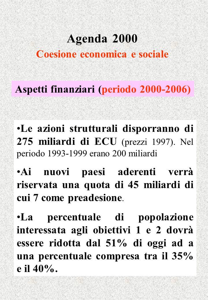 Agenda 2000 Coesione economica e sociale