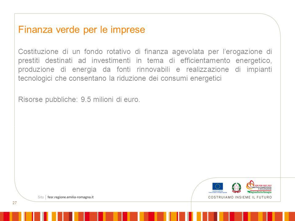 Finanza verde per le imprese