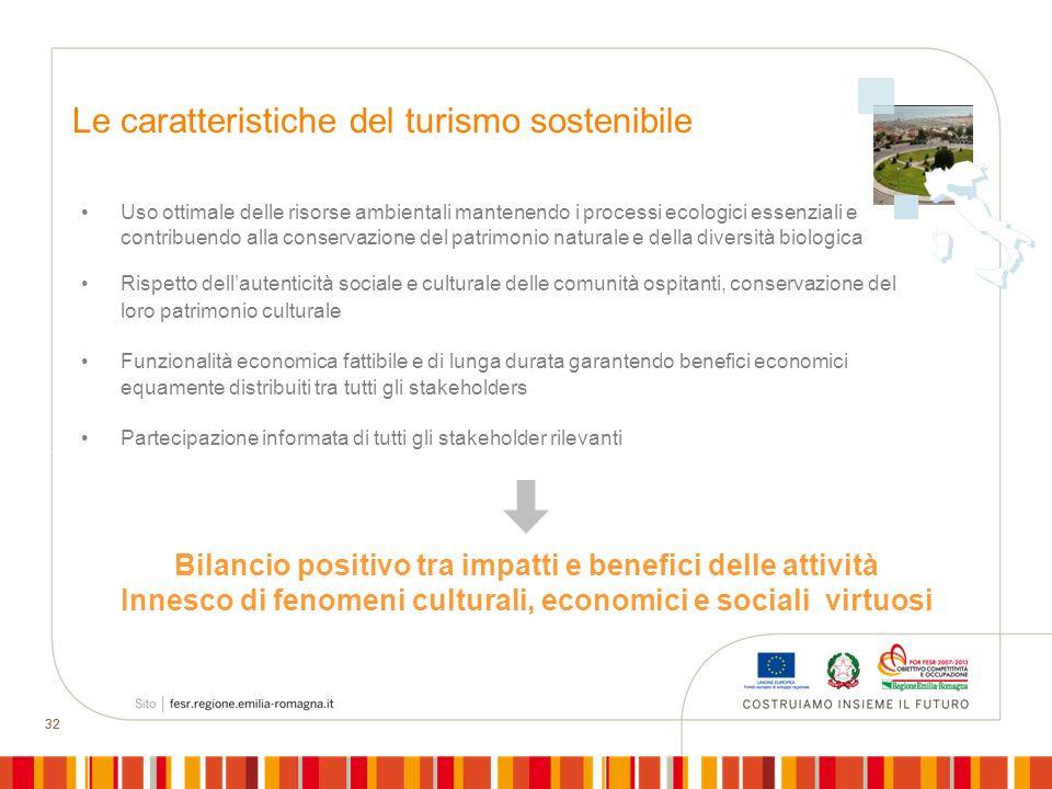 Le caratteristiche del turismo sostenibile