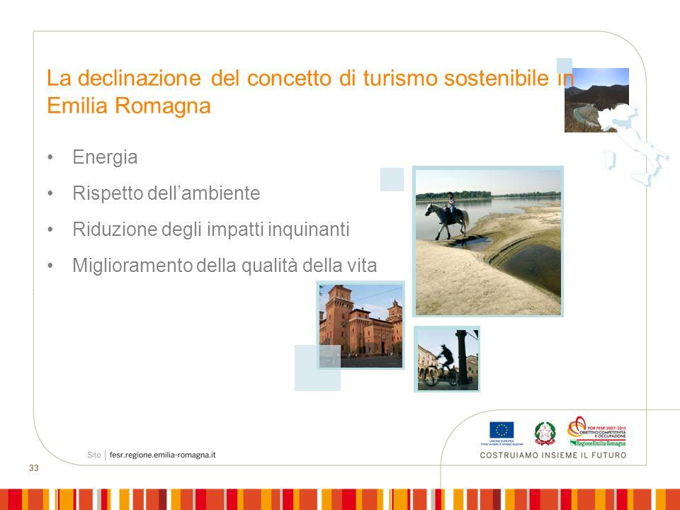 La declinazione del concetto di turismo sostenibile in Emilia Romagna