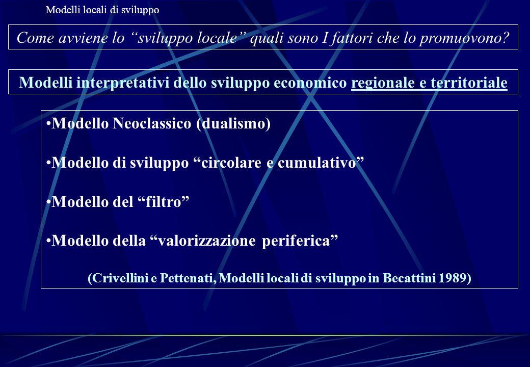 (Crivellini e Pettenati, Modelli locali di sviluppo in Becattini 1989)