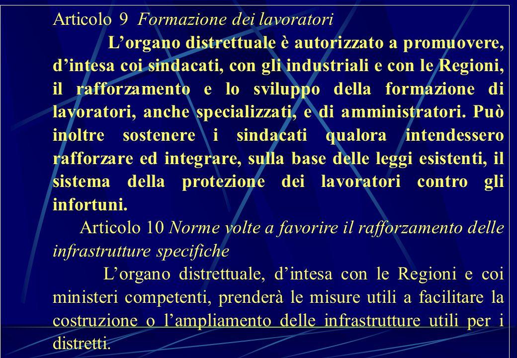 Articolo 9 Formazione dei lavoratori