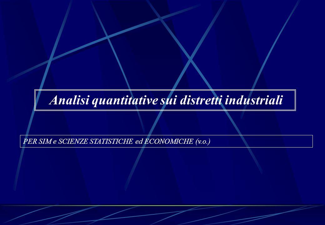 Analisi quantitative sui distretti industriali