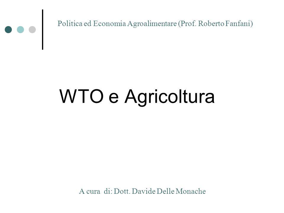 Politica ed Economia Agroalimentare (Prof. Roberto Fanfani)