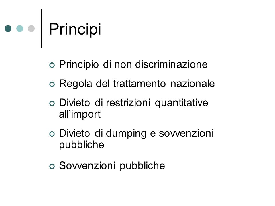 Principi Principio di non discriminazione