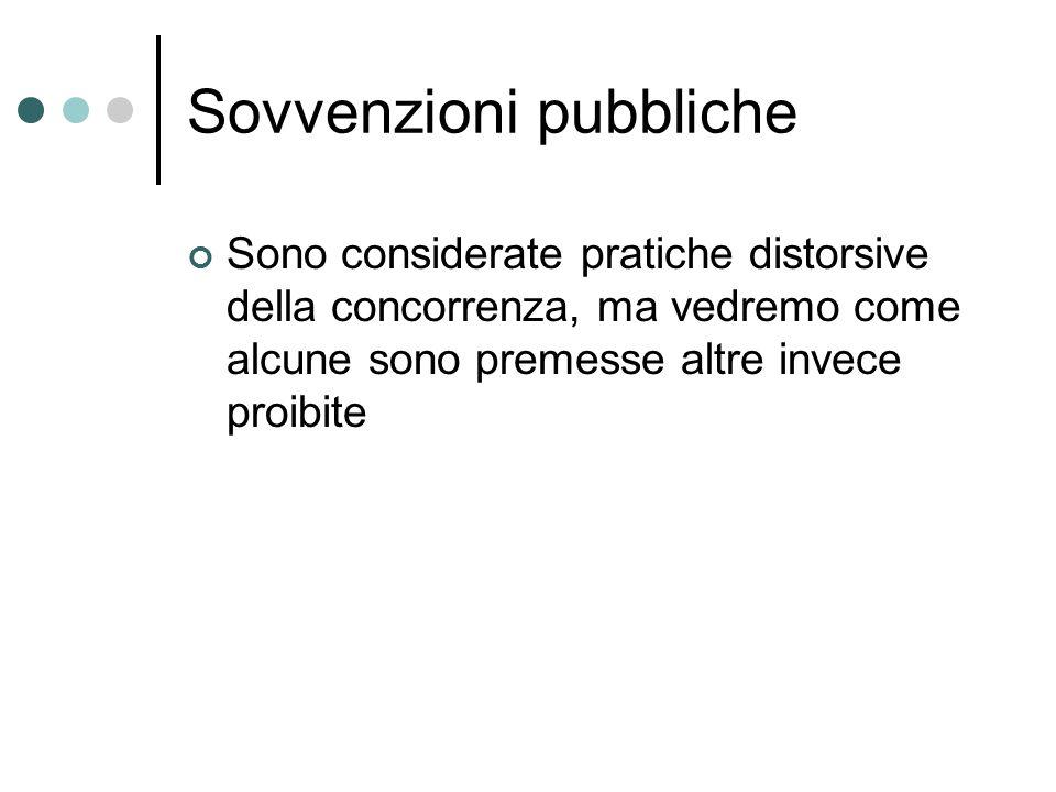 Sovvenzioni pubbliche