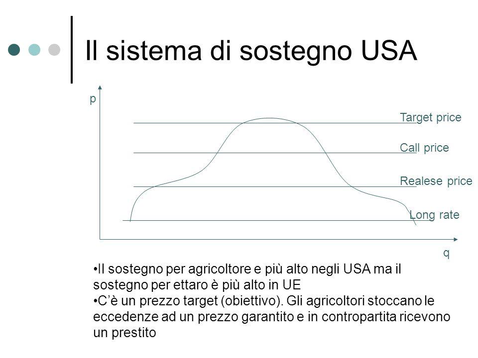 Il sistema di sostegno USA