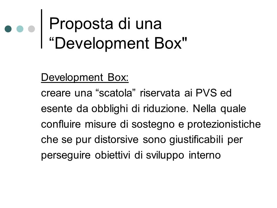 Proposta di una Development Box