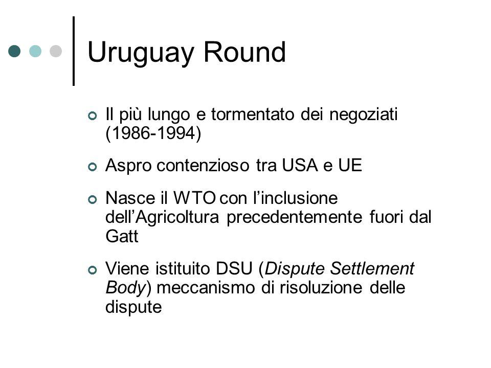 Uruguay Round Il più lungo e tormentato dei negoziati (1986-1994)