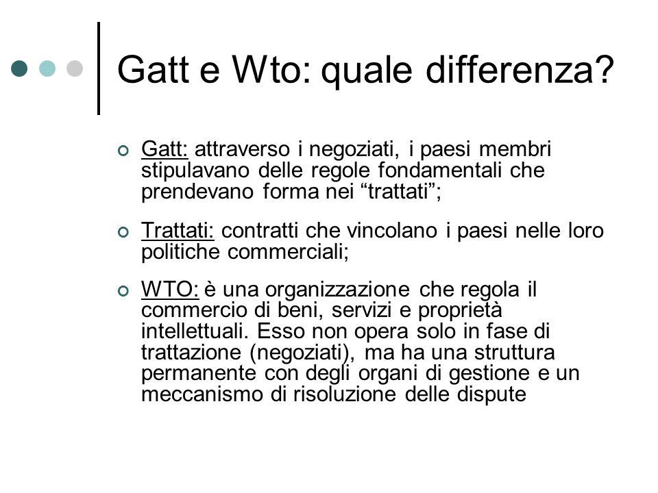 Gatt e Wto: quale differenza