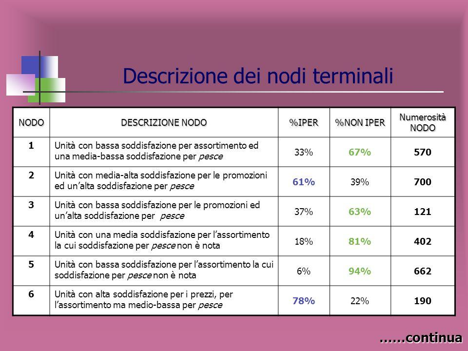 Descrizione dei nodi terminali
