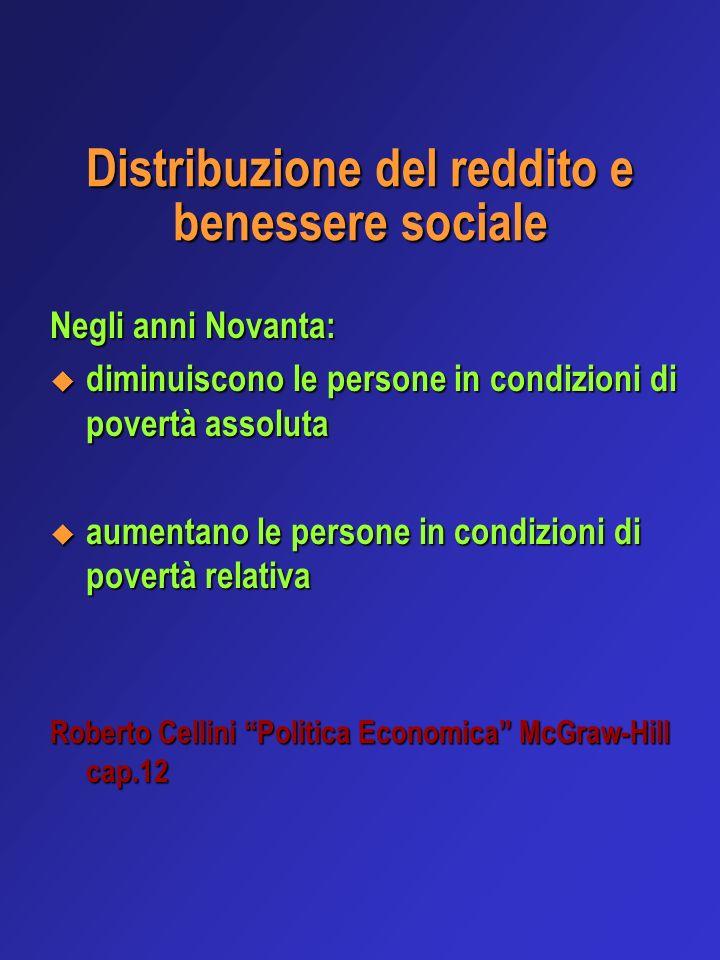 Distribuzione del reddito e benessere sociale