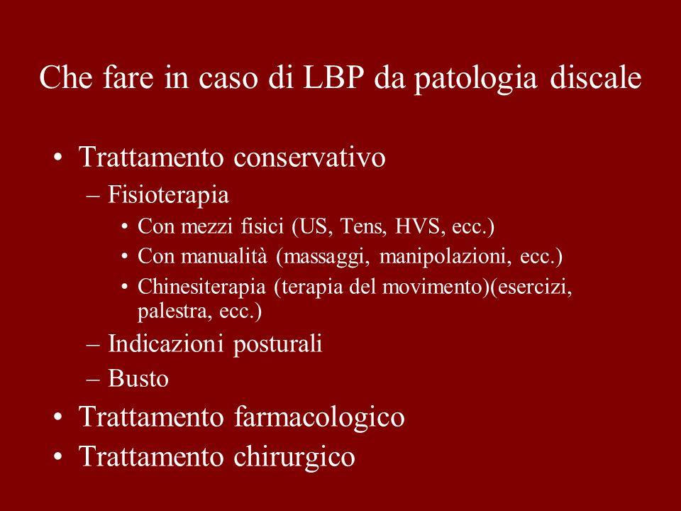 Che fare in caso di LBP da patologia discale