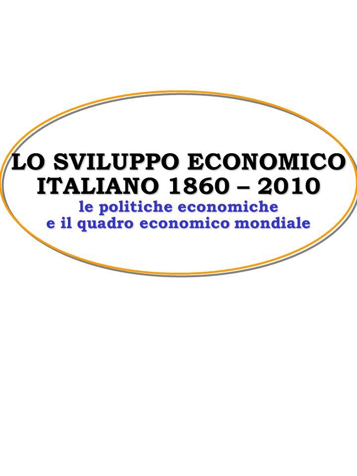 LO SVILUPPO ECONOMICO ITALIANO 1860 – 2010 le politiche economiche e il quadro economico mondiale