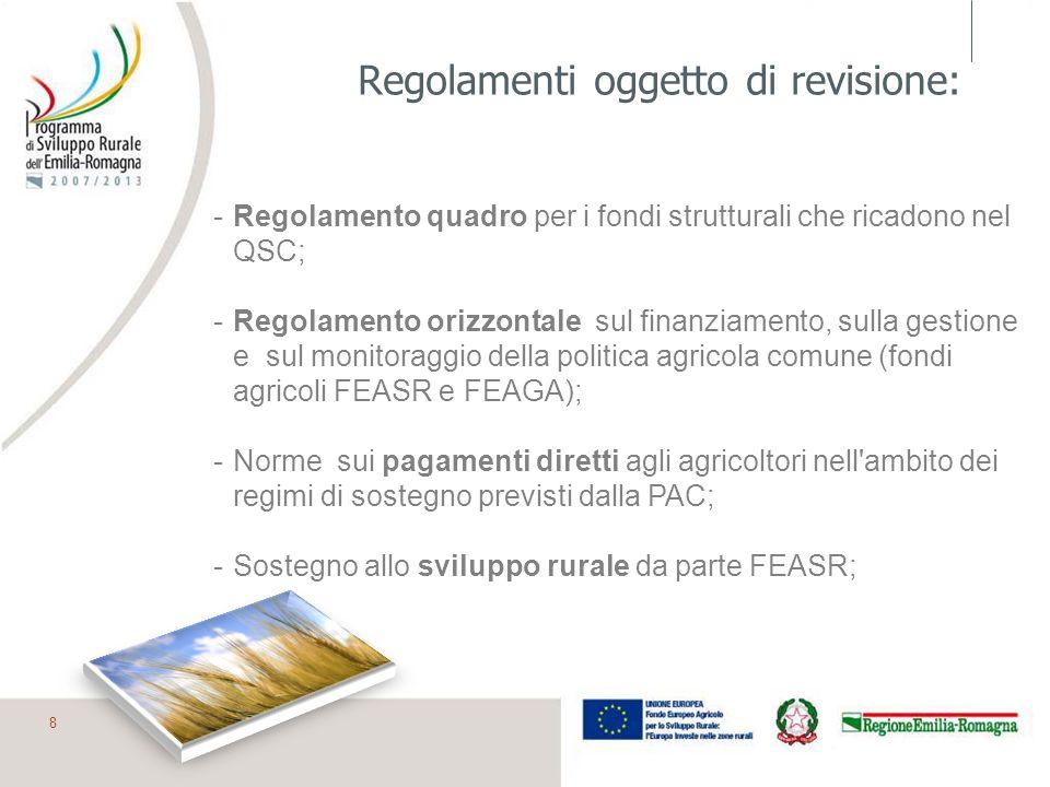 Regolamenti oggetto di revisione:
