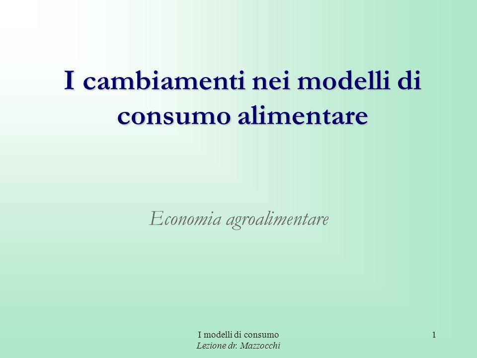 I cambiamenti nei modelli di consumo alimentare