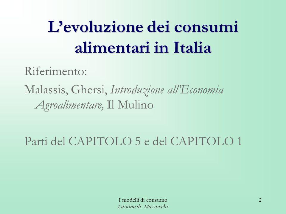 L'evoluzione dei consumi alimentari in Italia