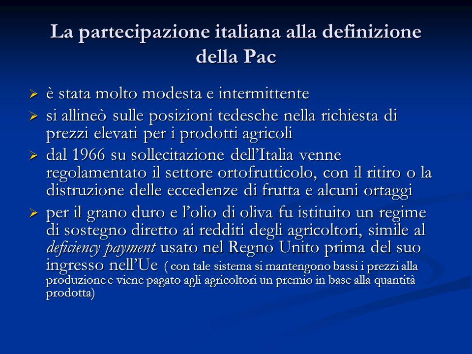 La partecipazione italiana alla definizione della Pac