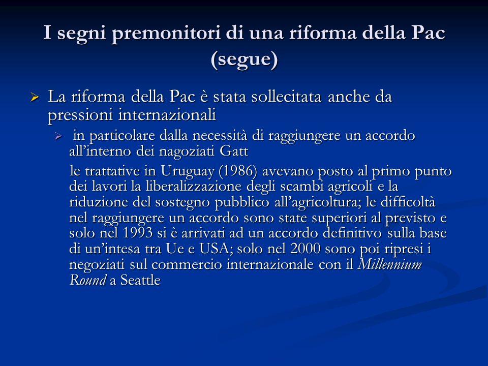 I segni premonitori di una riforma della Pac (segue)
