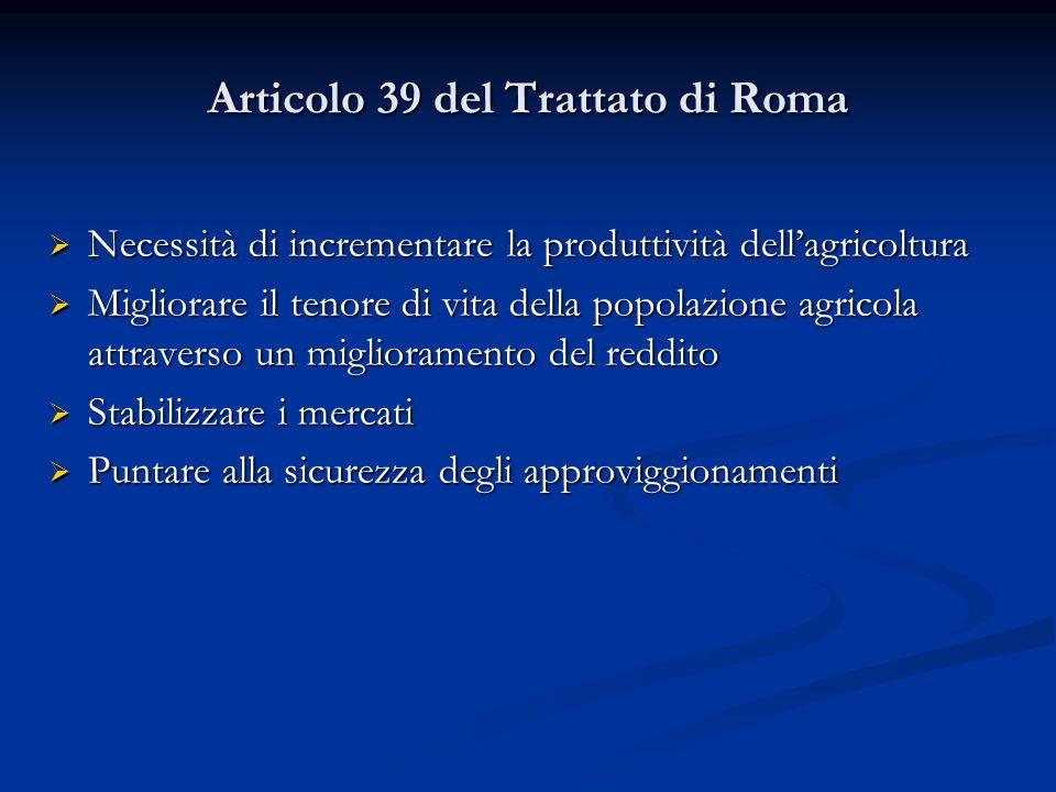Articolo 39 del Trattato di Roma