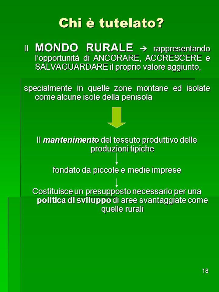 Chi è tutelato Il MONDO RURALE  rappresentando l'opportunità di ANCORARE, ACCRESCERE e SALVAGUARDARE il proprio valore aggiunto,