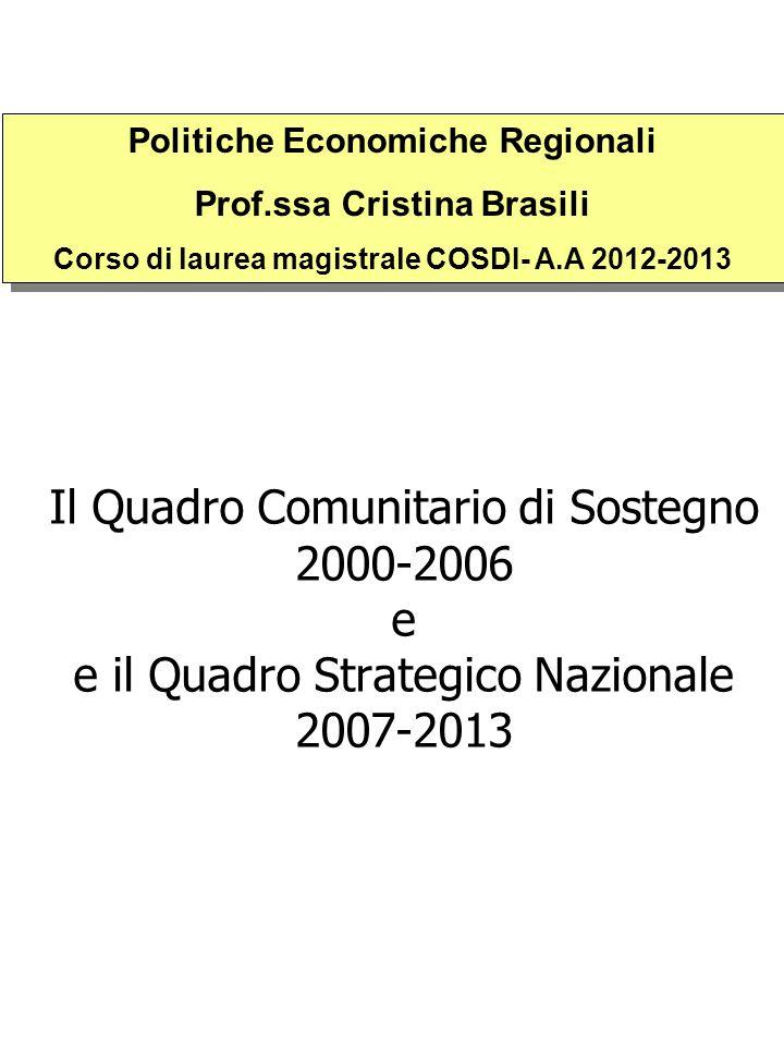 Politiche Economiche Regionali