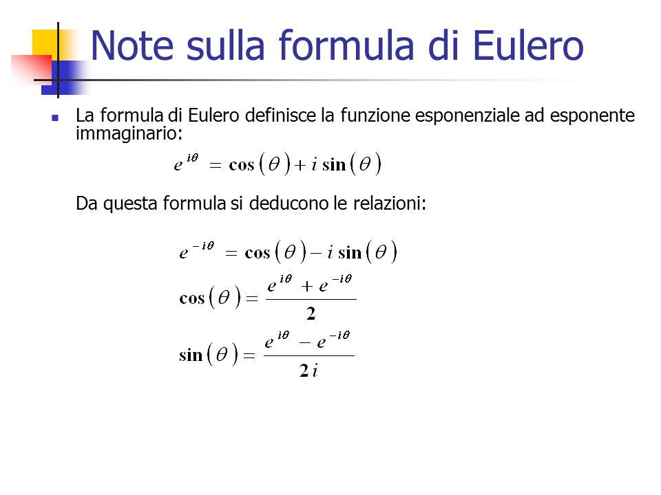 Note sulla formula di Eulero