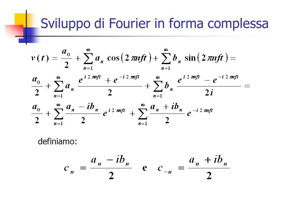 Sviluppo di Fourier in forma complessa